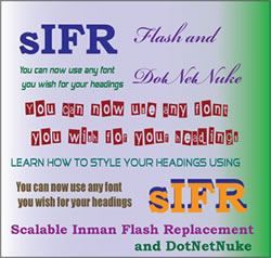 sIFR Flash Headings with DotNetNuke