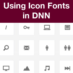 How to Implement Icon Fonts in DNN