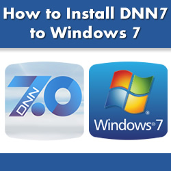 How to Install DotNetNuke 7 to Windows 7 - Web Server and .NET Framework