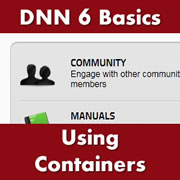 DotNetNuke 6.x Basics - Setting Default and Individual Module Containers