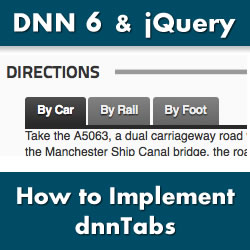 How to Implement jQuery UI Tabs in a DotNetNuke HTML Module