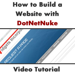 How to Build a Website with DotNetNuke - Setting up the Site and Creating the First Page