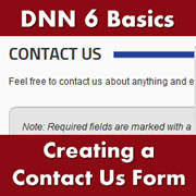 DotNetNuke 6.x Basics - Installing Modules from the Forge & Creating a Contact Us Form