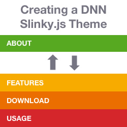 How to Create a Stackable Heading DNN Theme With Slinky JS - Introduction and Theme Setup