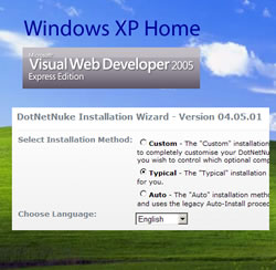 How to install DNN to Win XP Home