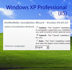 How to install DNN to win XP Pro using IIS