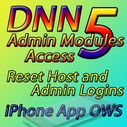 Issue 50 - DotNetNuke 5 Admin Modules Access, Reset Logins, iPhone OWS