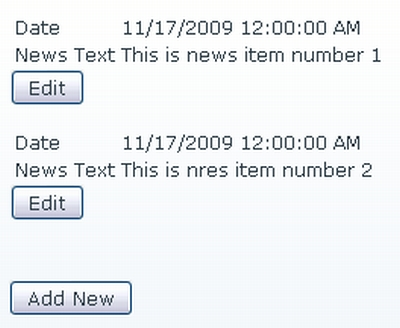 The NewsView Form as it is now