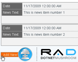 How to Style the News Application Built with DotNetMushroom RAD