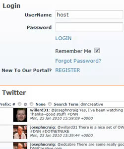 Enhancing the OWS Login Module and Building a Twitter Module