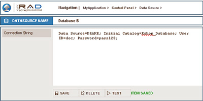 Screenshot - Data Sources form
