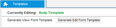 Click on the Templates tab to switch to templates view and click on Generate Edit Form Template link
